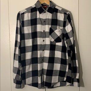 Plaid Long Sleeve Button Down Shirt